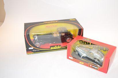 (2) voitures en Diecast BUGATTI (MB)  - Solido...