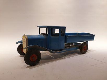TRIANG gros camion benne en bleu, état c...