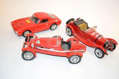 Forza Italia ! Trois modèles en métal – Alfa...