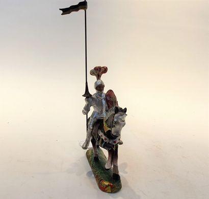 DURSO un chevalier en armure, à cheval, en...