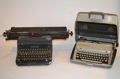 REMINGTON: deux machines à écrire. Une modèle...