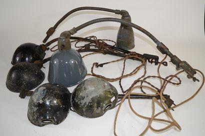 Ensemble de 5 lampes de bureau sur pied flexible,...
