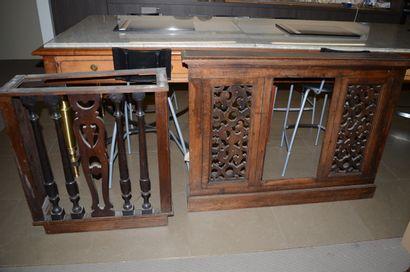Deux caches radiateur en bois (120 x 90 cm...
