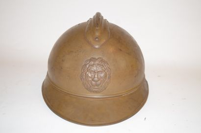 Casque Adrian Belge de la 1ère guerre mondiale,...