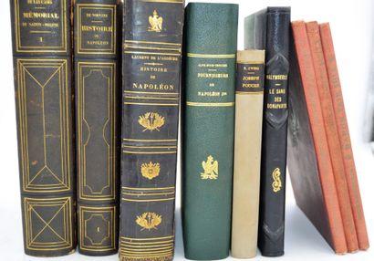 Lot de neuf livres:    Baron FAIN, secrétaire...