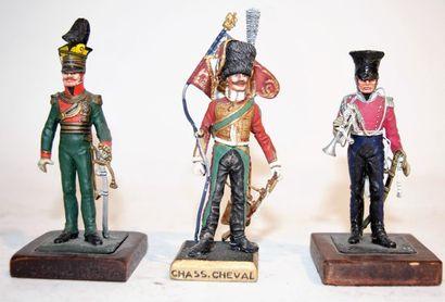 Figurines d'art: Labayen: Lanciers et chasseur...