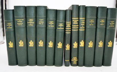 Ensemble de 12 livres sur Napoléon:  -9 de...