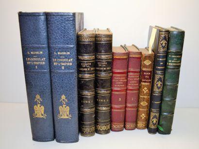 Ensemble de 9 livres:    Louis MADELIN