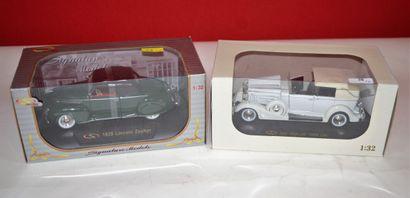 Signature Models: 2 voitures au 1/32ème,...