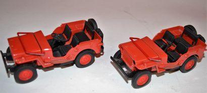 Gate: 2 jeep Willys au 1/32 ème, en métal,...