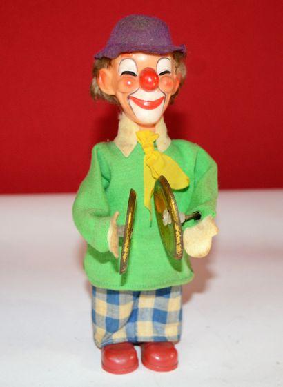 Automate clown aux cymballes, plastique,...