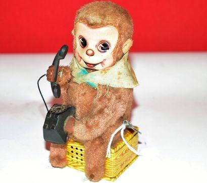 Japon: Telephone monkey land office. Singe...