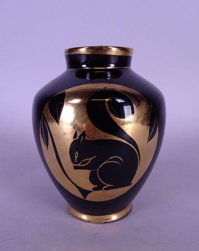 Céramique Faïence Boch vase décor D.2237...
