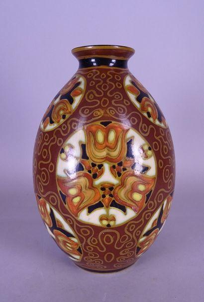 Céramique: Vase Boch Keramis émaux mats sur...