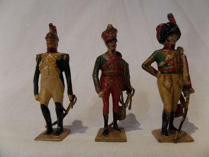 VERTUNNI, (3) soldats premier Empire, en...