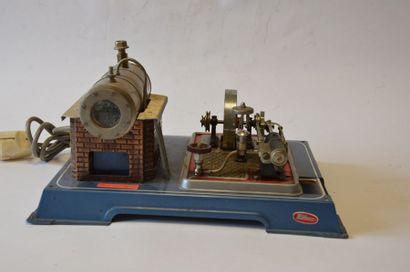 WILESCO, machine à vapeur, psiton fixe, volant,...