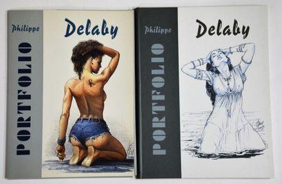 Ensemble de 2 pièces:  2 Porto-folios érotiques...