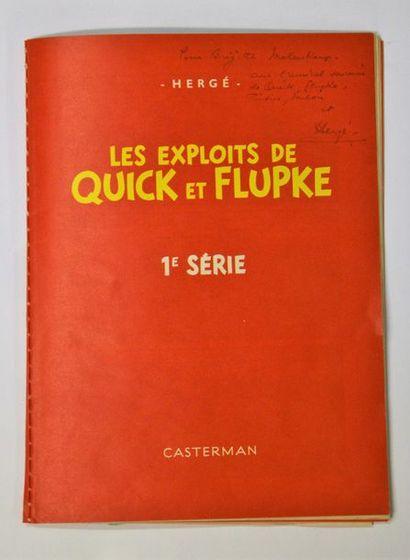 Dédicace d'Hergé adressée à Brigitte Molenkamp,...