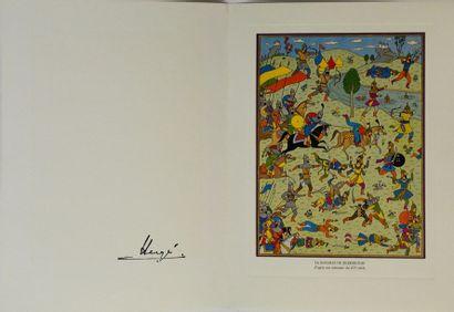 Une grande carte de vœux signée par Hergé...