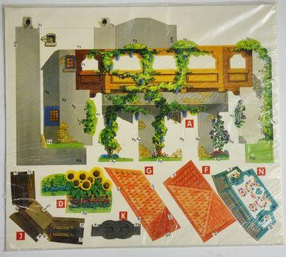 Rare décors en carton à monter de la villa...