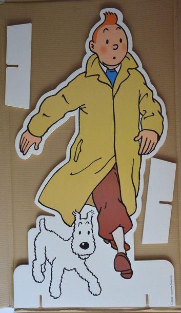 PLV représentant Tintin. Dans son emballage...