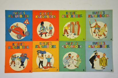 Rare ensemble de 11 albums à colorier 'Kuijfe...