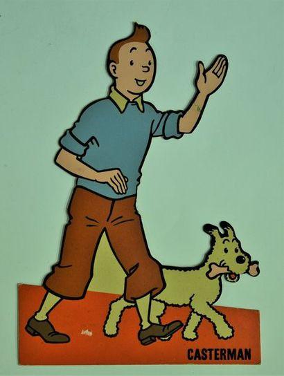 PLV Tintin et Milou années 60 - Bon état...
