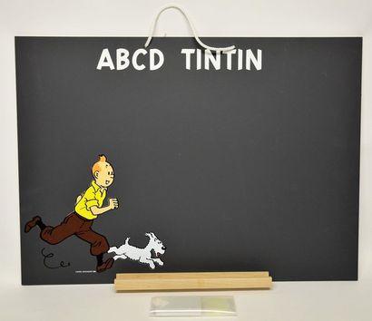 Tintin - Tableau noir d'écolier 'ABCD Tintin'...