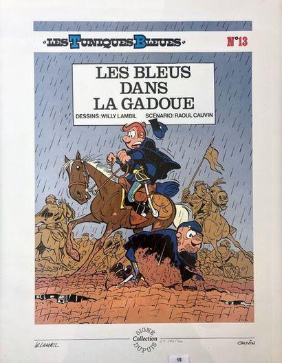 Lambil/Les tuniques bleues: affiche tirée...