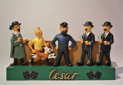 César/Tintin: rarissime présentoir promotionnel...