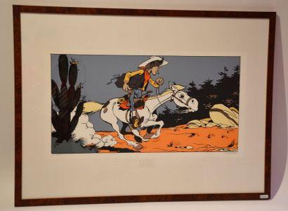 Morris/Lucky Luke: rare illustration représentant...