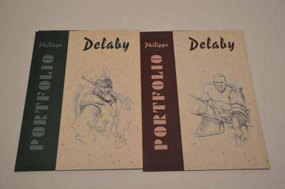 Delaby Philippe: Paire de portofolios illustrant...