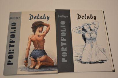 Delaby Philippe: Paire de portofolio illustrant...