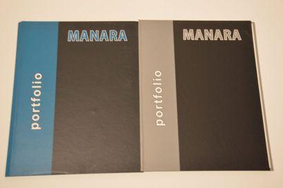 Milo Manara: Ensemble de 2 Portofolios érotiques...