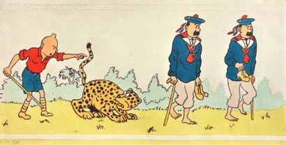 Studios Hergé/Tintin. Dessins polychrome...