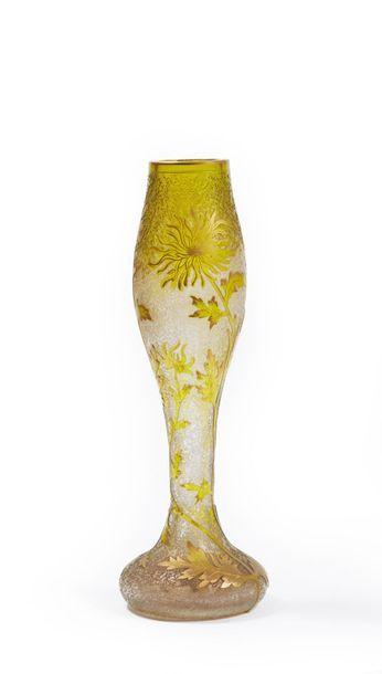 VAL. Vase balustre sur piédouche. Épreuve...
