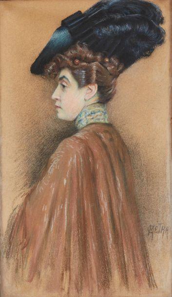 Camille METRA (XIX-XXe siècle). Portrait...