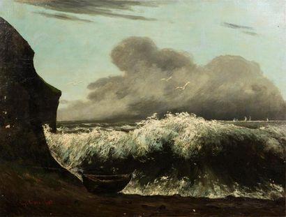 Cercle de Gustave Courbet, fin du XIXe, début...