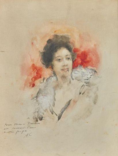 Antoine CALBET (1860-1944). Portrait de jeune...