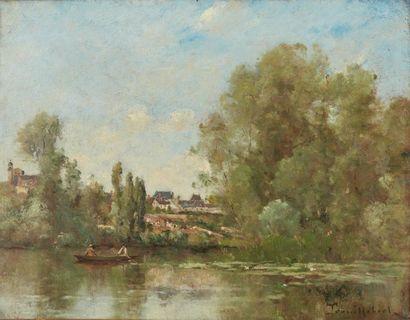 Paul-Désiré TROUILLEBERT (1829-1900). Paysage....