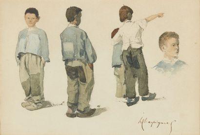 Henri-Joseph HARPIGNIES (1819-1916). Étude...