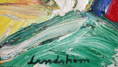 Bengt LINDSTRÖM (1925-2008). L'Aventurier,1990. Toile, signée en bas, titrée au...