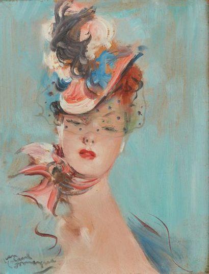 Jean-Gabriel DOMERGUE (1889-1962). Femme...