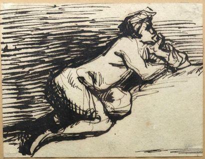 Attribué à Jean-François MILLET (1814-1875)....