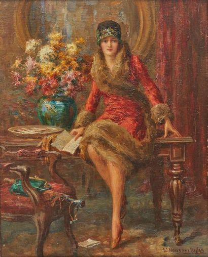 William Hounsom BYLES (1872-1940). La Lettre....