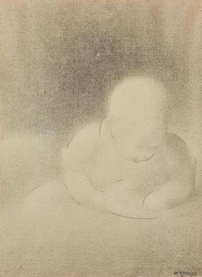 Charles ANGRAND (1854-1926). Bébé. Dessin...