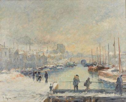Paul VOGLER (1852-1904). Paris, port de l'Arsenal...