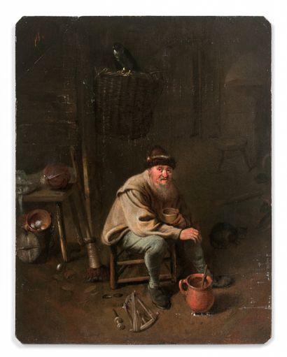 Hendrick POTUYL (Dortmund, 1613-1670).  Scène...