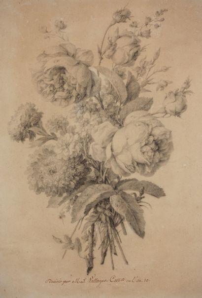 Anne VALLAYER-COSTER (1744-1818).  Jeté de...