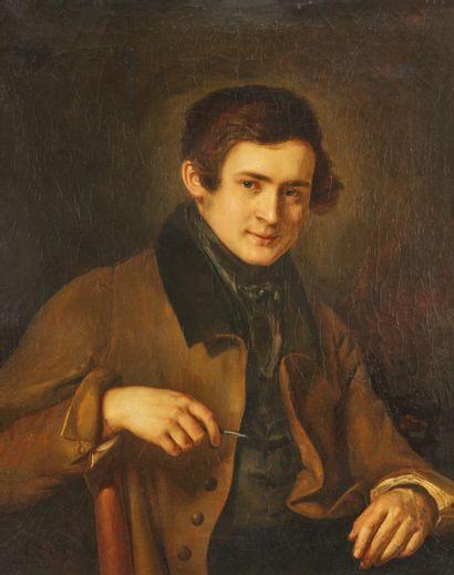 L.Sp *** école FRANÇAISE 1821.  Portrait...